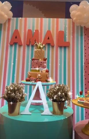 Aiman Khan Daughter Birthday Pics