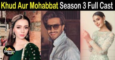Khuda Aur Mohabbat Season 3 Cast Name