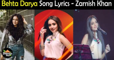 Behta Darya Zarnish Khan Lyrics