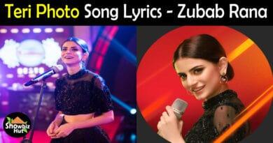 Teri Photo Zubab Rana Lyrics