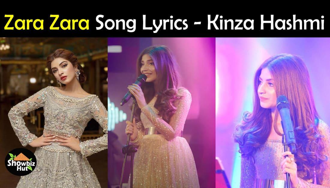 Zara Zara by Kinza Hashmi Lyrics – Sony Kashmir Beats Season 1