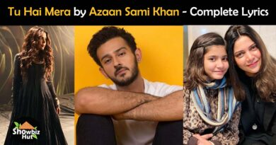 tu hai mera by azaan sami khan lyrics