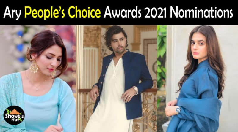 Ary People's Choice Awards 2021 Nominations