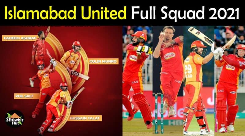 Islamabad United Squad 2021