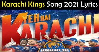 Karachi Kings Song 2021 Lyrics