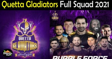 Quetta Gladiators Squad 2021