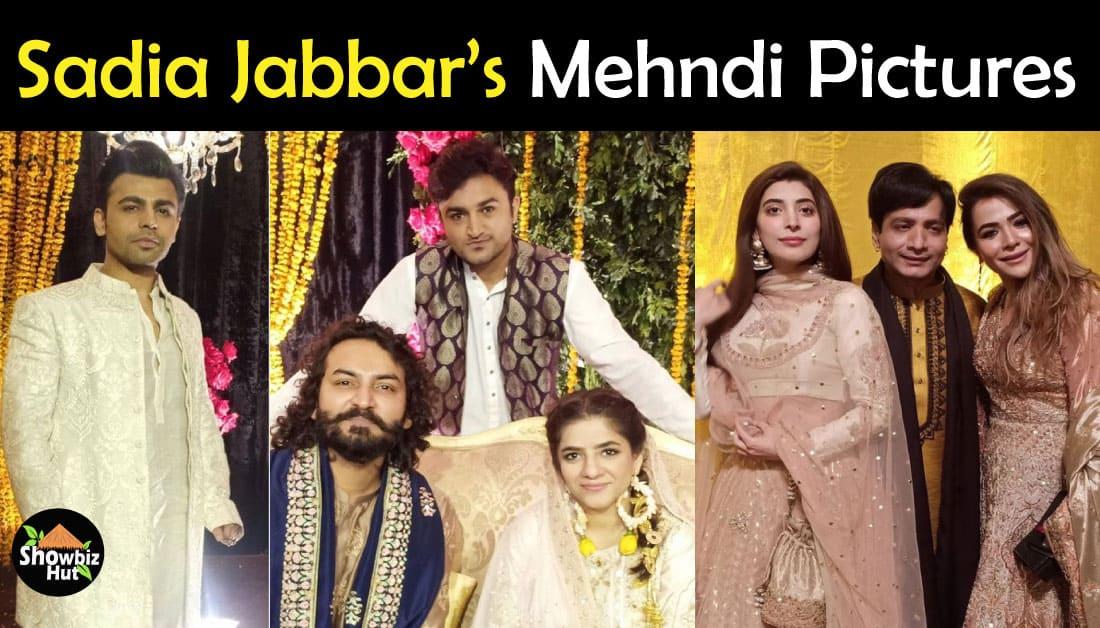 Celebrities Pics at Mehndi of Sadia Jabbar and Qasim Ali Mureed