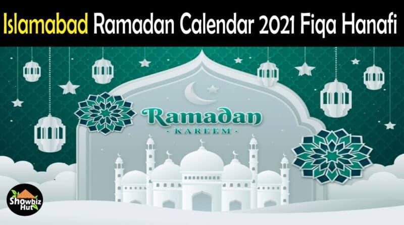 Islamabad Sunni Sehri Iftar Time 2021