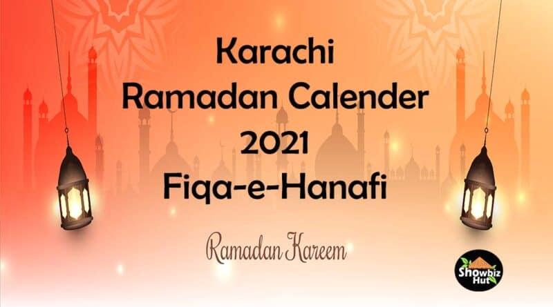 karachi sehri iftar time 2021 fiqa hanafi sunni