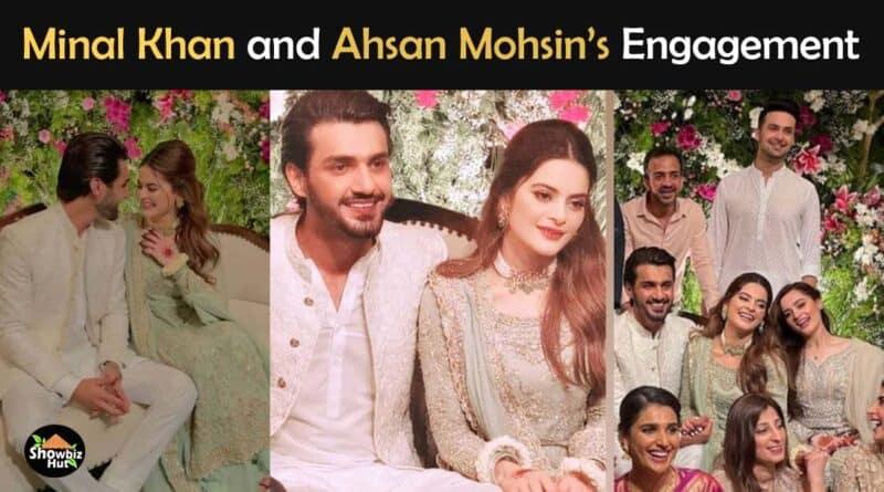 minal khan engagement pics