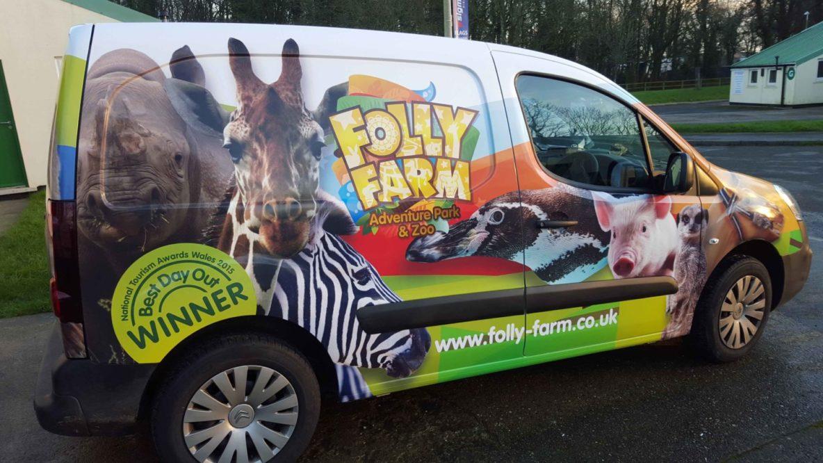 vehicle wraps, wales, van graphics, sigma display,