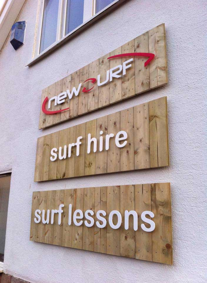 Wooden Signs, acrylic lettering, Pembrokeshire