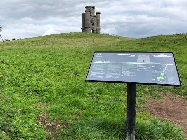 Interpretation panel, signage, Carmarthenshire