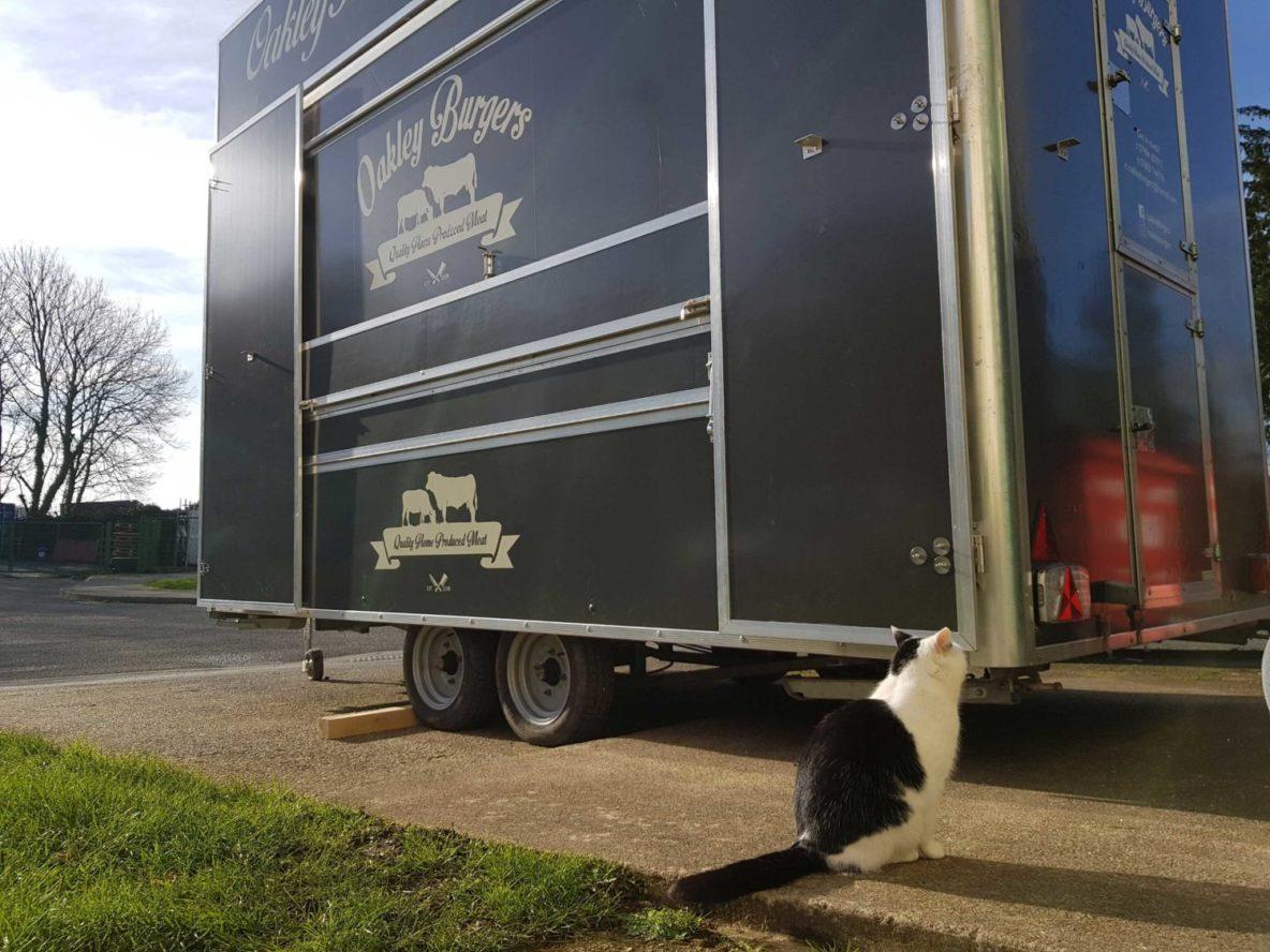 Signage, catering van, vehicle graphics, graphic design