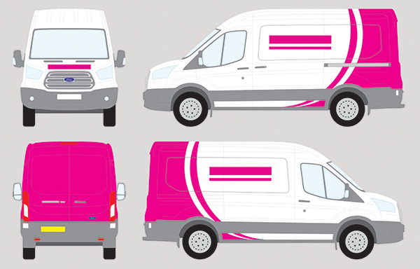 vehicle wrapping costs, showing the area