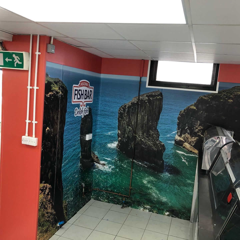 printed wallpaper, wall wrap, sigma display, Pembrokeshire