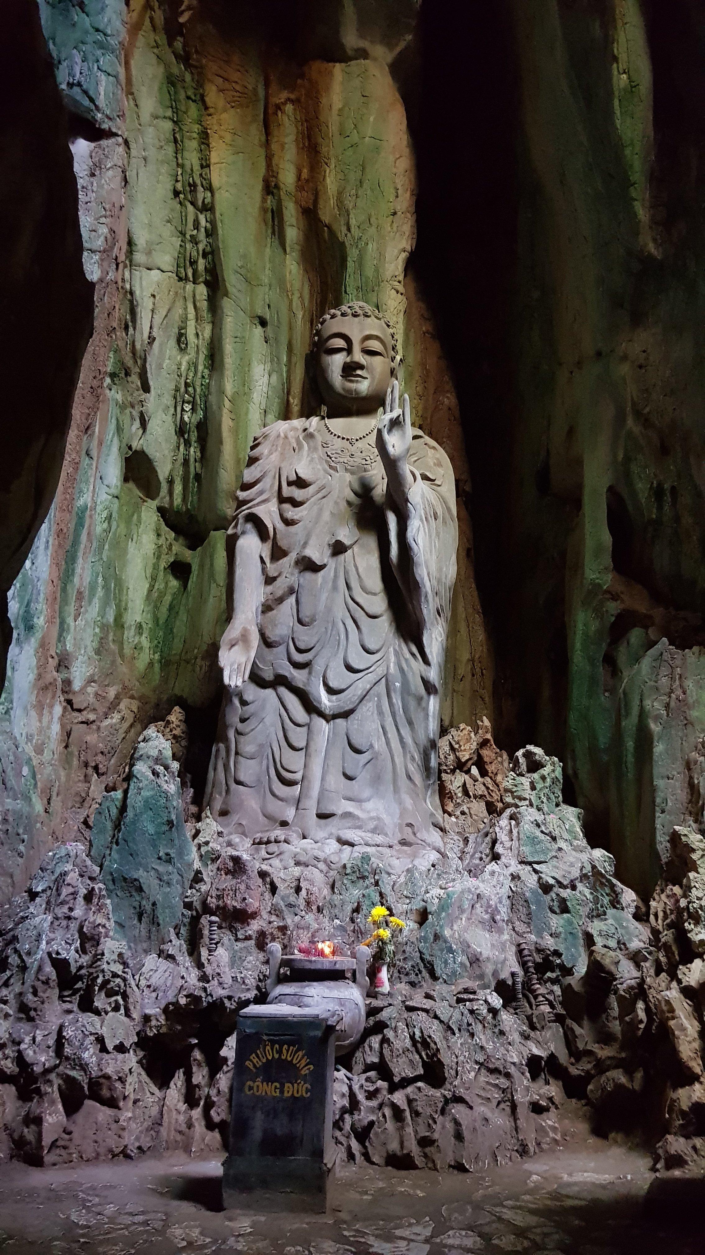 Hue to Da Nang: Buddha in Marble Mountain cave