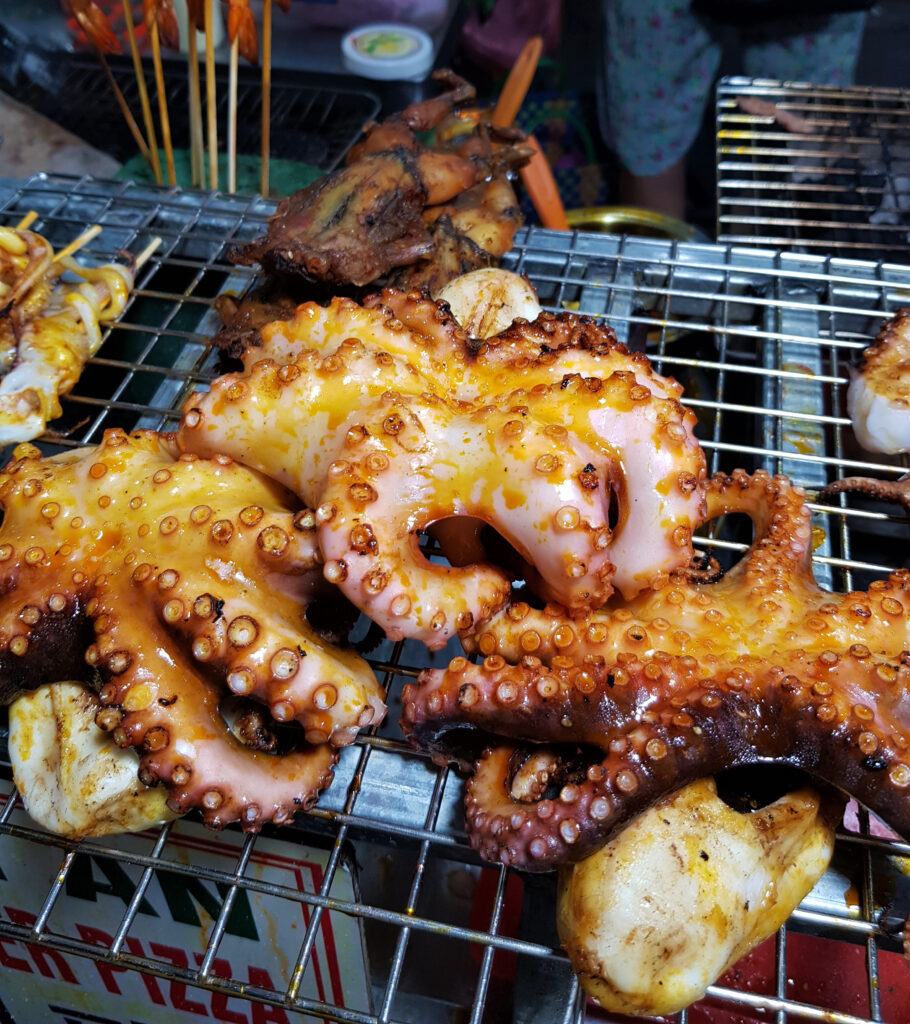 Grilled Frog and Octopus