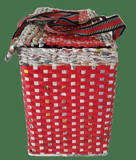 Picnic Basket With Lid, Carry Bag With Cover, Handbag Shopping Bag