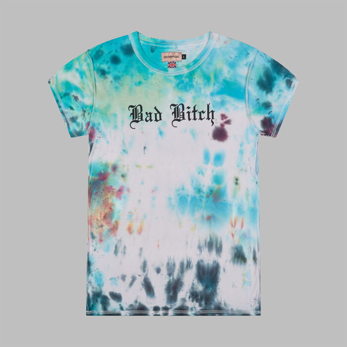 H.O.M Bad Bitch Women's Tie Dye T-shirt