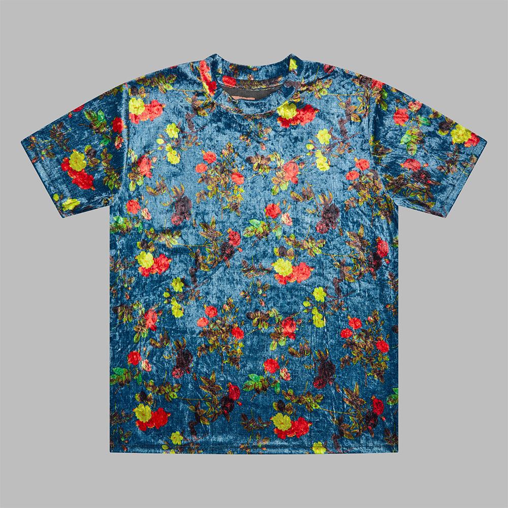 House Of Marc blue handmade floral t-shirt