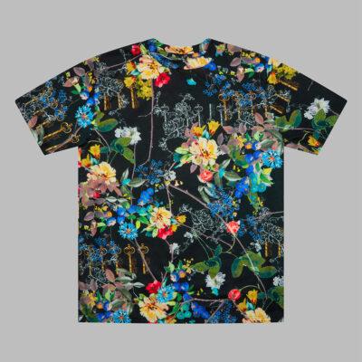 House Of Marc black handmade floral t-shirt