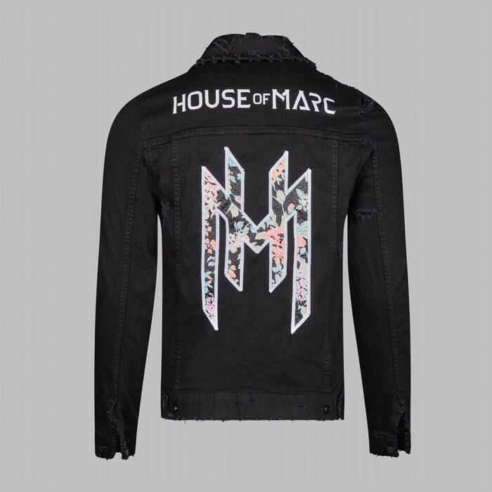 H.O.M Denim Distressed Embroidered Jacket