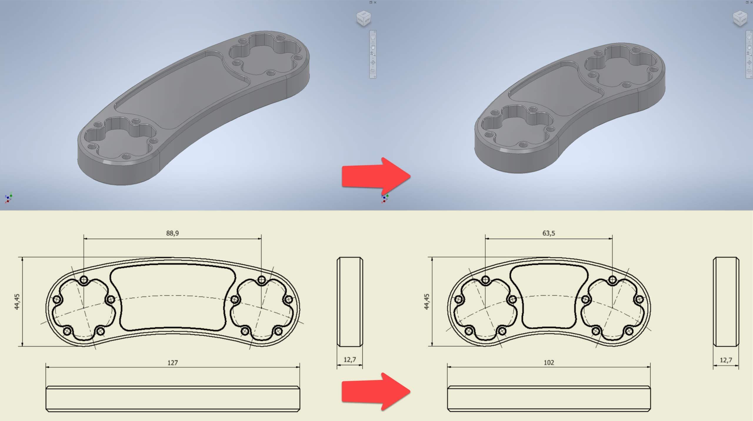 Utilizzare Modelli 3D Aggiornamento Automatico di Viste e Assiemi