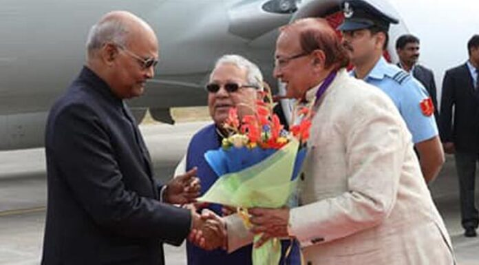 President Kovind reached Udaipur. Dr. B.D. Kalla welcomed-2