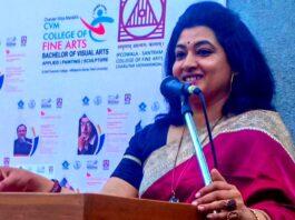 Dr. Meghna of Bikaner recited poetry in Gujarat