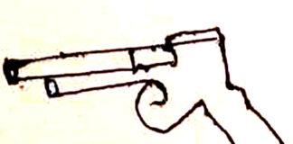 धमकी भरे पत्र में हस्ताक्षर के स्थान पर पिस्तोल का निशान