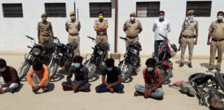 Five bike thieves in lockup, six bikes recovered