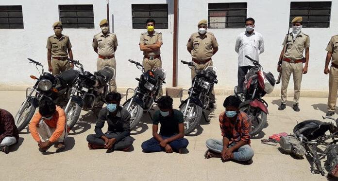 Five bike thieves in lockup, six bikes recovered