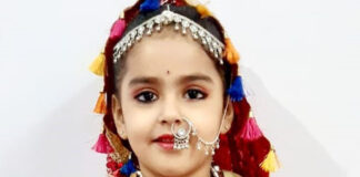 soumya Soni, a 6-year-old student