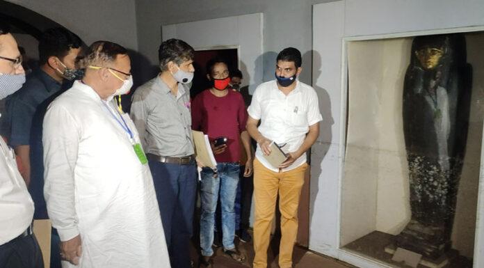 डॉ. कल्लाि ने अल्बर्ट हॉल म्यूजियम में बारिश से हुए नुकसान का लिया जायजा