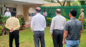 Cabinet Minister Dr. Kalla hoisted the flag in Civil Lines