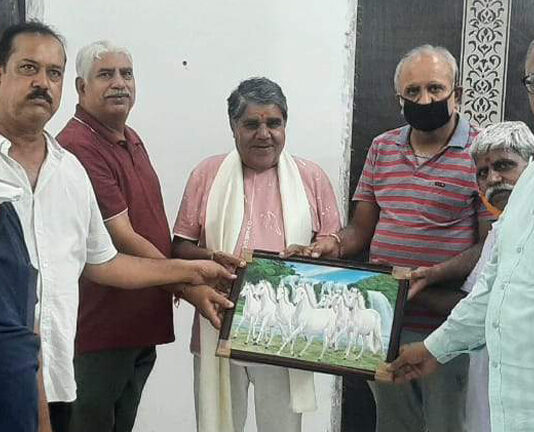 Social reception for social worker Harikshan Joshi