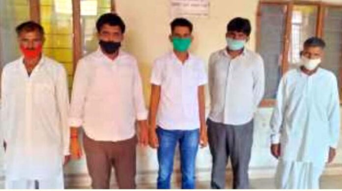 Five accused of kidnapping and assaulting arrested