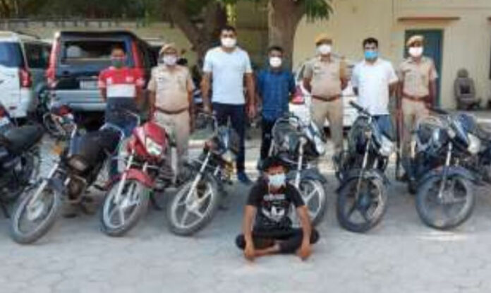 Vehicle thief Raju Prajapat arrested, 11 motorcycles recovered