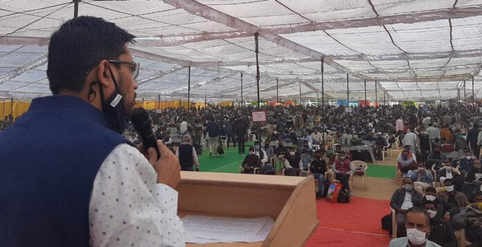 Polling in Panchayat Samiti Sridungargarh, Nokha and Panchu on Monday