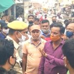 Traders demonstrated on sewerage problem
