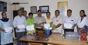 Six academicians honored in Dungar College