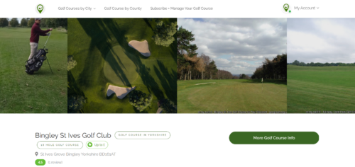 Enhance Your Golf Course Page