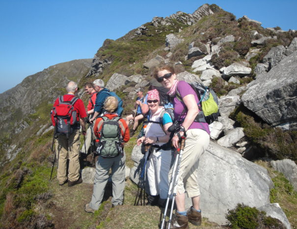 A group who booked with us climbing Slieve league Cliffs