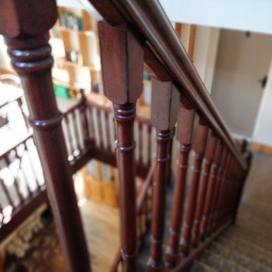 stairwell between the three floors of our large Donegal B&B.