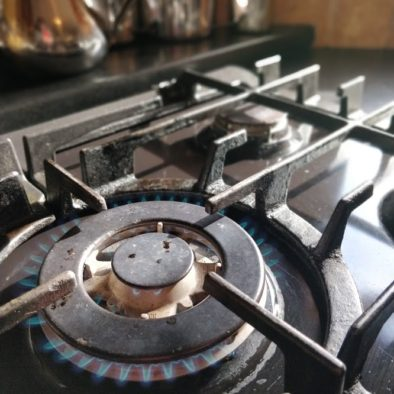 a picture of our cooking facilities. Enjoy a large kitchen with several hobs and stoves to cook your own meals upon