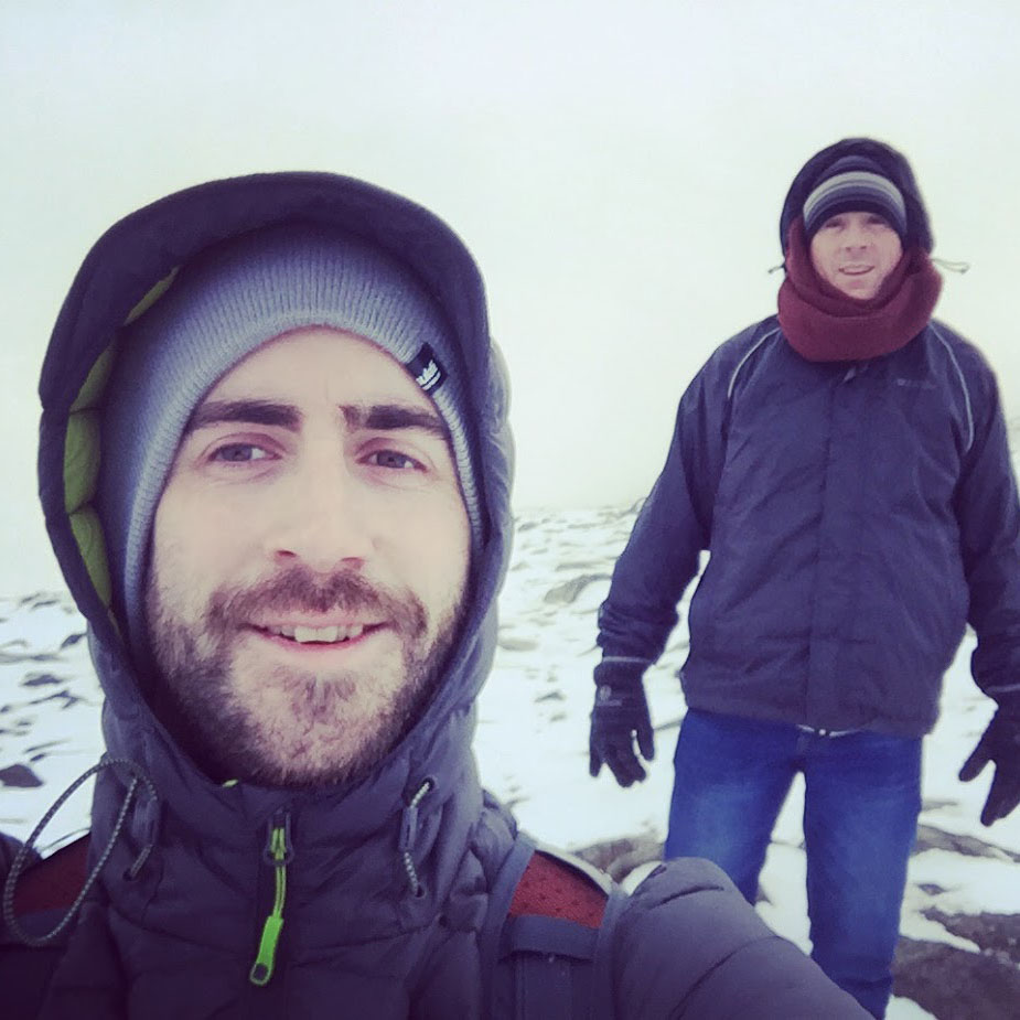 Our DIrectors, Chris and Nick climbing the Pilgrims Path
