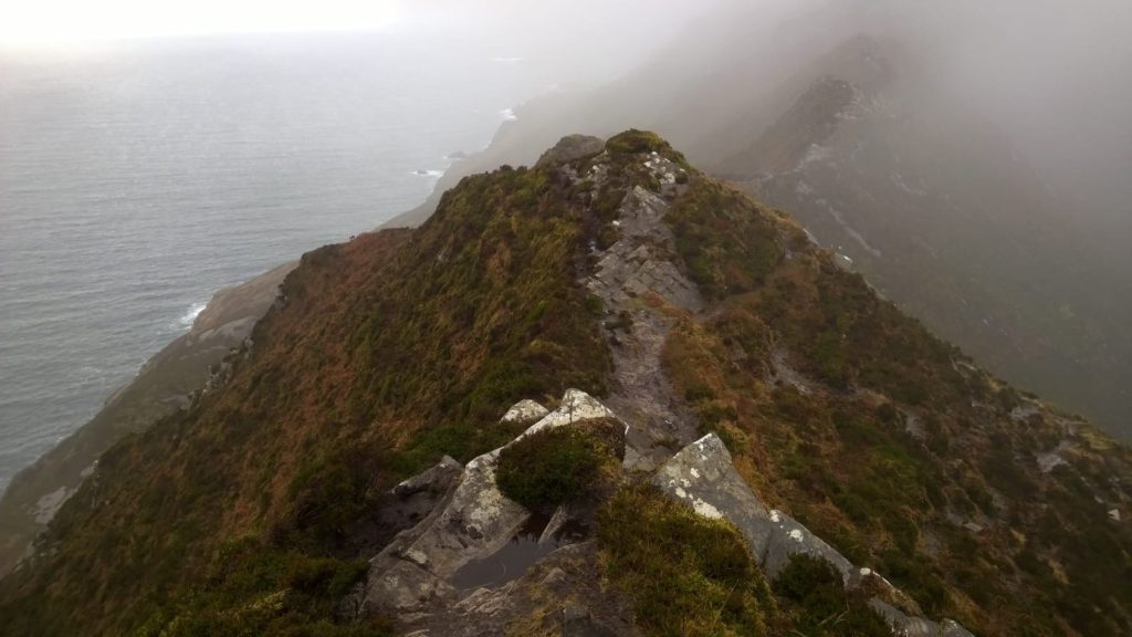 The Start of One Man's Path at Slieve League