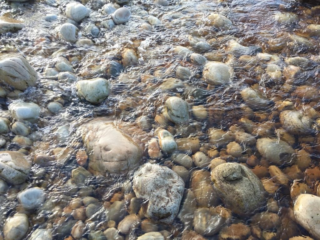 Rocks in the river and stream near Port Donegal