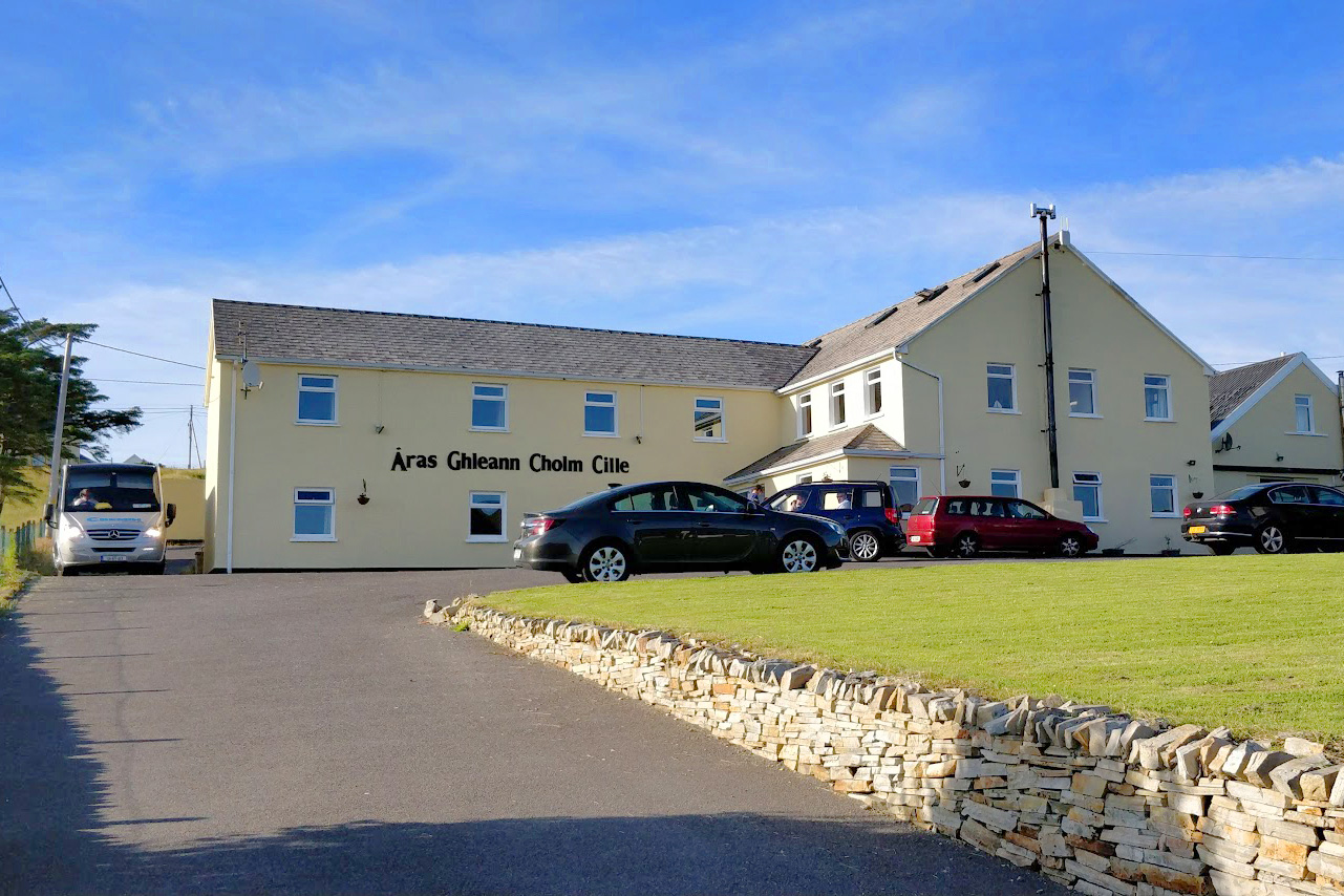 A street view of Aras BnB Bed and Breakfast, showing our 20 room guest house and parking lot.